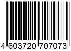 штрих код образец